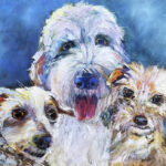 Paintings with dogs